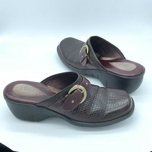Clarks Artisan Collection Brown Leather Mules 9M